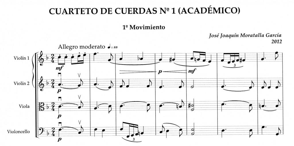 Incipit_Cuarteto num 1